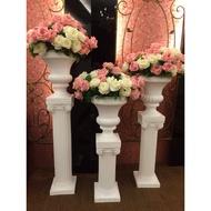 【樂提小舖】04032 羅馬柱 塑膠羅馬柱 造型大酒杯 歐風擺飾 會場佈置 婚禮佈置 婚禮設計 大型花架 塑料羅馬柱