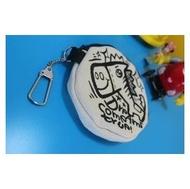 手繪 圓形 零錢包 --加名字 在背後 生日禮物 情人節 畢業禮物 悠遊卡 包