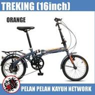 Folding Bike TREKING 16 inch 7 speed Steel Frame Basikal Lipat 16 inci