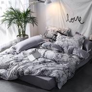 北歐/銀河灰/大理石紋/床包四件組(床包+被套+枕套一對)單人/雙人/加大雙人/可訂做