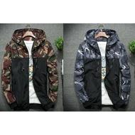 韓版迷彩飛行外套 外套 迷彩連帽外套 連帽外套 防水 夾克 迷彩 外套 男 MA1 【MJ08】