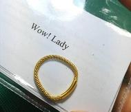 แหวนเงิน925แนวใหม่ลายอิตาลีชุบทองคำ18k มีคลิปของจริง