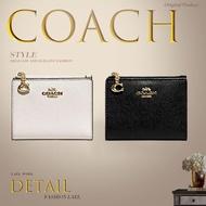 Coach แท้ -F73876 F78002 -กระเป๋าสตางค์ผู้หญิง-กระเป๋าตัง -แพ็คเกจการ์ด-กระเป๋าเงิน-กระเป๋าใส่เหรียญ-กระเป๋าสตางค์ใบสั้น