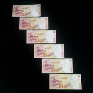 2 + 4 X Malaysia RM10 10 Ringgit 11th Series ZA, ZD replacement banknote set