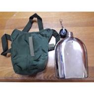 全新U.S軍用水壺 不鏽鋼水壺 附贈水壺袋