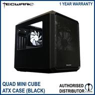 Tecware Quad Mini Cube Chassis Black Micro ATX Case with Side and Top Window