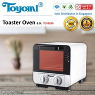 TOYOMI Electric Oven Toaster 8.0L [Model: TO 8030] - Official TOYOMI Warranty Set. 1 Year Warranty.