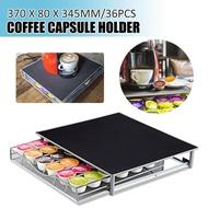 เครื่องทำกาแฟแคปซูลตู้เก็บของขาตั้งชั้นวางของอุปกรณ์ลิ้นชักชั้นวางของในครัว