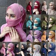 Jilbab Pasmina Free Masker Hafsha Payet Bando - Hijab Pasmina Model Terbaru Pashmina Hafsha - Krudung instan Bahan Ceruty Babydoll Ori Jika Tidak Ori Uang kembali Murah Terlaris