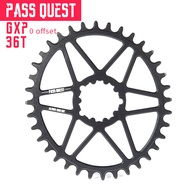 PASS QUEST Offset 0mm GXP Oval Narrow Wide Chainring Crankset For SRAM XX1 X01 MTB Mountain Bike Chain Wheel Bicycle Gear 30-42T