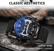 KADEMAN High Quality Sport 3ATM LED Display Men Watch Fashion Brand Design Wristwatch Casual Leather Watch
