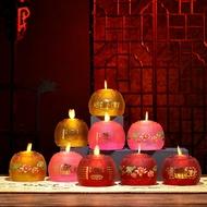 電子蠟燭燈供佛燈家用電池式佛堂佛前觀音一對led蓮花燈佛具仿真