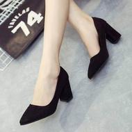 Rovy รองเท้าคัชชูผู้หญิง ส้นสูง3นิ้ว ทรงทางการ W1103