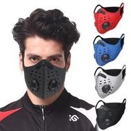 【活力揚邑】耳掛純色戶外運動機車防風防塵防霾多重防護氣閥立體口罩