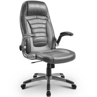 Grey Office Chair Laptop Desk Ergonomic Swivel Executive Adjustable Task Computer High Back Chair