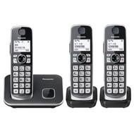 【Panasonic 國際牌】KX-TGE613TW中文數位大字鍵三話機無線電話