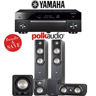 (Polk Audio) Polk Audio Signature S50 5.1-Ch Home Theater Speaker System with Yamaha AVENTAGE RX-...