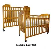 BabyOne Foldable Baby Cot FREE 4 inch Foam Mattress Free Assembly