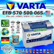 【電池達人】VARTA E45 EFB 70AH LN3 德國進口 華達 汽車電池 福斯 VW AUDI A3 原廠電瓶