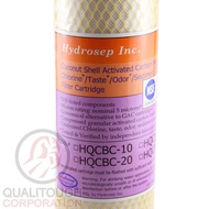 """Hydrosep 20"""" BB Activated Carbon Block Coconut Shell Filter"""