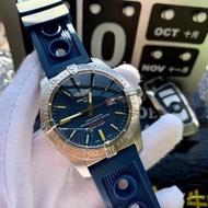 Breitling百年靈  男士手錶機械錶牛皮錶帶簡單大氣🃏