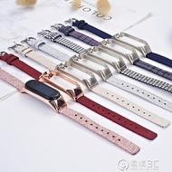 適用小米手環5/4/3腕帶nfc通用帆布尼龍錶帶運動2三代四五代 聖誕節全館免運