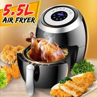 5.5L Electric Air Fryer Multi-function Pan With Basket Health Chip Oil Free Oven Cooker LED Touch Screen Non-stick Pot Coating