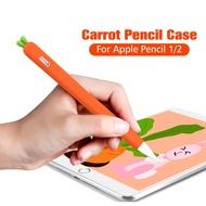 ANKNDOแครอทซิลิโคนปากกาสำหรับApple Pencil 1 2 กรณีซิลิโคนป้องกันสำหรับAppleดินสอ 1 2 นุ่มปกป้องNib