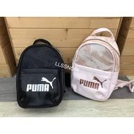Puma Mini Small Backpack Zipper Nylon With Leather Backpack Puma