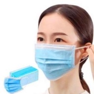 【現貨】防潑水熔噴布口罩50入 三層過濾口罩熔噴布阻隔層+親膚不織布 防水安全