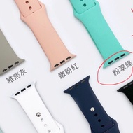 Apple Watch  4 3 2 1 代運動 矽膠 錶帶 粉翠綠 38/40mm (二手,僅帶過一次)