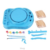 For Kids Craft Educational Toy Birthday Gift Forming Imaginative With Paints Artist Studio Pottery Wheel Kit