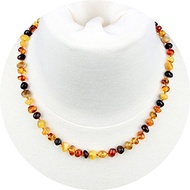 ▶$1 Shop Coupon◀  Baltic Amber Necklace for Adult (Unisex, Multicolor, 18 Inches) Lab-Tested, 100% C