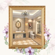 White Bathroom Mirror Wall Stickers Small Frame