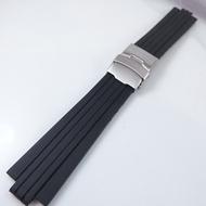 【錶帶家】超值代用 Oris 豪利時 TT1 10mm/24mm 機械錶F1胎紋凸型矽膠錶帶矽膠帶另有TT2