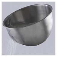 ⊙⊙水母漂漂⊙⊙ NUCOOK神奇洗米盆21cm ㊣304不鏽鋼洗米器 蔬果瀝水盆 滴水籃 濾網
