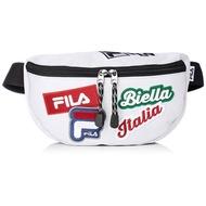 FILA 日本限定 FM2144 FILA LOGO PATCH WAIST BAG 帆布 腰包 / 側背包 (白)