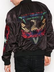 跩狗嚴選 正品 Diesel 橫須賀 外套 刺繡 勝利不死鳥 鳳凰 兩面穿 飛行夾克 MA1 寬版 頂級絨面 絲質布料