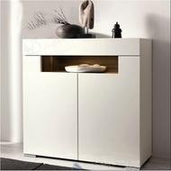 『生活家居館』SS簡約白色鋼琴烤漆鞋櫃對開門儲物櫃門廳櫃玄關可定餐邊櫃碗櫃221