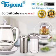 TOYOMI Borosilicate Health Pot / Glass Kettle/ Flask [Model: WK 2162] -1 Year Warranty
