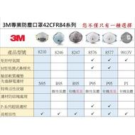 3M N95口罩 8210 9913V  8247  8246 8576 8577工業口罩 韓國製公司貨(謙榮國際)