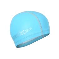 SPEEDO 兒童合成泳帽-游泳 戲水 海邊 沙灘 SD8720734604 水藍銀