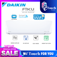 DAIKIN R32 Deluxe Inverter Smart Control - Wifi Air Conditioner - FTKU Model Air Cond 5 star Energy Saving / 1.0HP FTKU28A RKU28FV1D / 1.5HP FTKU35A RKU35FV1D / 2.0HP FTKU50A RKU50FV1D / 2.5HP FTKU60A RKU60FV1D / 3.0HP FTKU71 FTKU71AV1LF