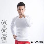 YG天鵝內衣 MIT 排汗保暖圓領長袖衫-單件-YP1550