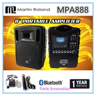 Martin Roland 8 Inch Portable Amplifier (MPA 888) 1 Year Local Warranty