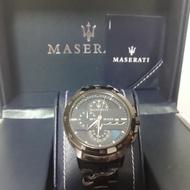 【瑋】100%實拍 瑪莎拉蒂手錶 旋轉三眼計時腕錶(R8873619001)