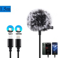 Professional Grade Lavalier Lapel Microphone Lightning/Type-C Port Mic with Easy Clip On System Perfect for Recording Youtube / Interview / Video Conference / Podcast / Voice Dictation / iPhone