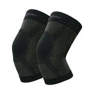 王鍺能量銀纖黑竹炭3D神奇活力護膝2件組(鍺能量+遠紅外線) ☆獨家加贈日本進口超彈力保暖機能衣
