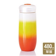 《乾唐軒活瓷》精彩隨身杯( 大 / 單層 / 橘黃白)