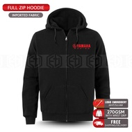Zip Hoodie Yamaha Racing Embroidery TZM 125Z LC RXZ MotoGP Team Casual Motorcycle Motosikal Superbike Bike Streetwear